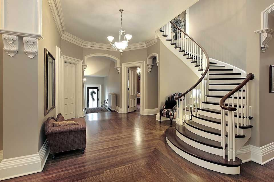 Interior of luxury home with staircase